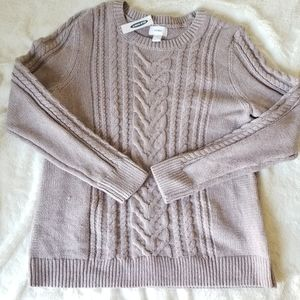 NWT Old Navy Cable knit lilac sweater